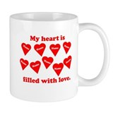 Personalized My Heart Filled Small Mugs