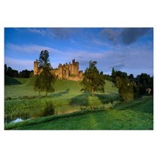 View of a castle, Alnwick Castle, Northumberland,
