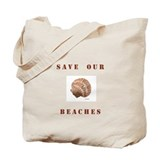 """Save Our Beaches"" Tote Bag"