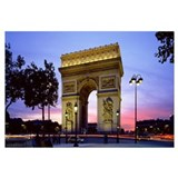 France, Paris, Arc de Triomphe, night