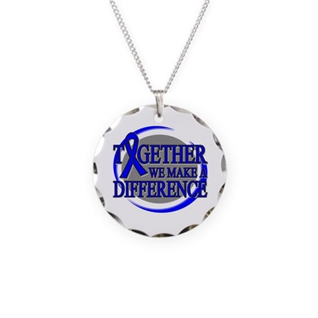Rectal Cancer Support Necklace Circle Charm