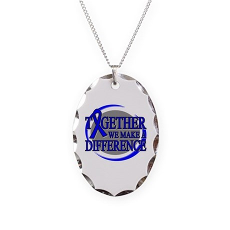 Rectal Cancer Support Necklace Oval Charm