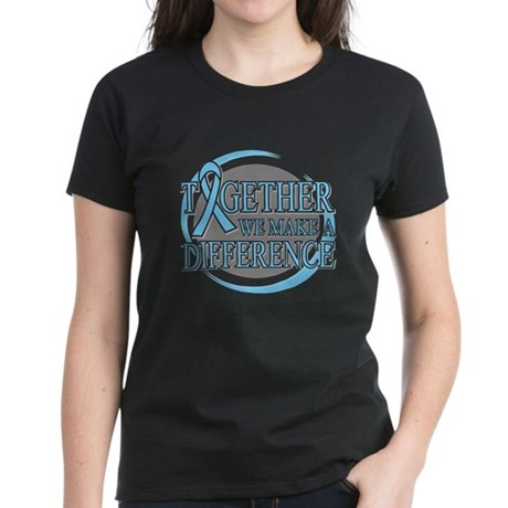 Prostate Cancer Support Women's Dark T-Shirt