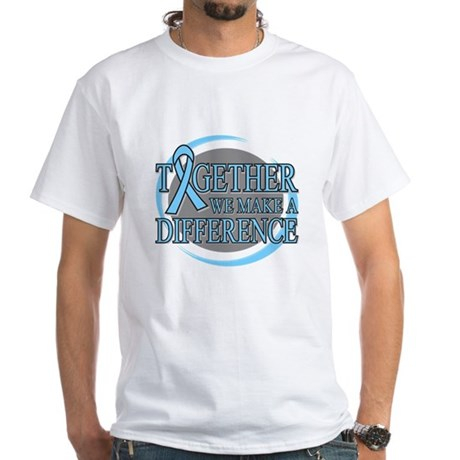 Prostate Cancer Support White T-Shirt