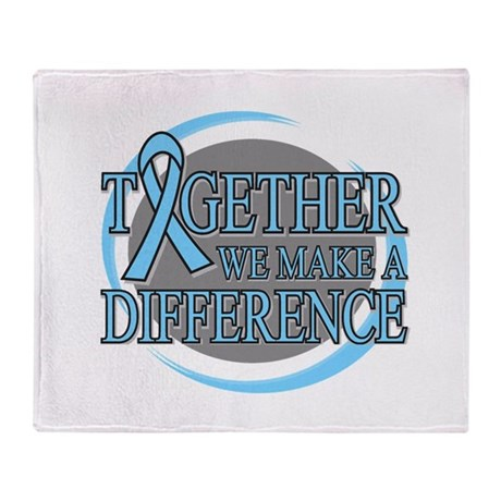 Prostate Cancer Support Throw Blanket
