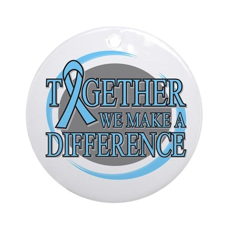 Prostate Cancer Support Ornament (Round)