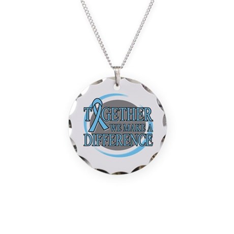 Prostate Cancer Support Necklace Circle Charm