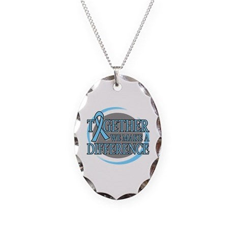 Prostate Cancer Support Necklace Oval Charm