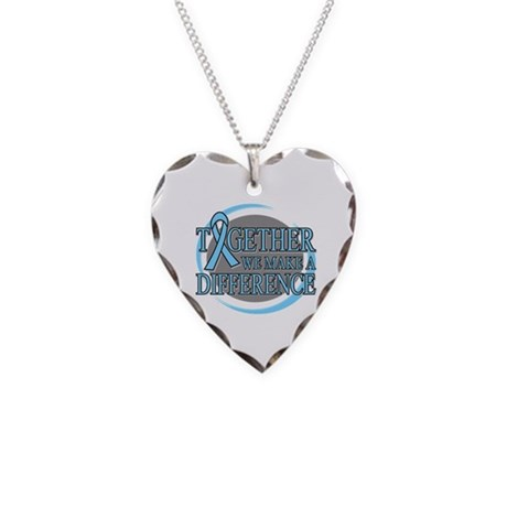 Prostate Cancer Support Necklace Heart Charm