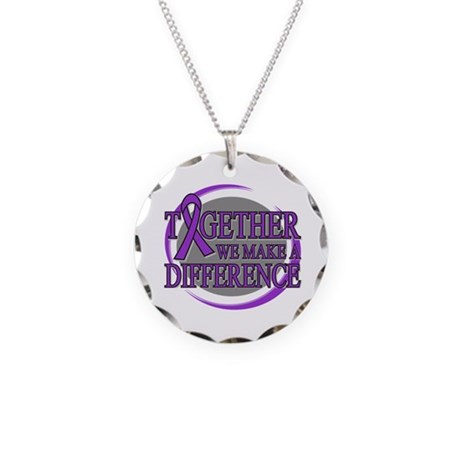 Pancreatic Cancer Support Necklace Circle Charm