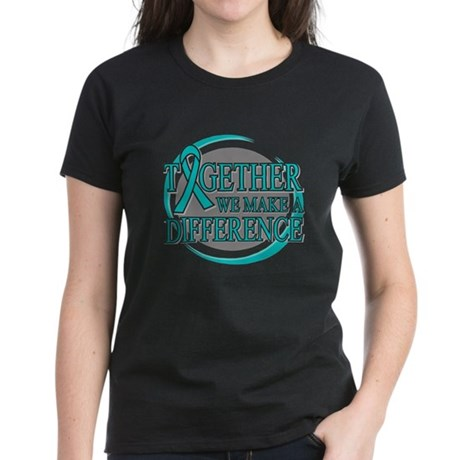 Ovarian Cancer Support Women's Dark T-Shirt