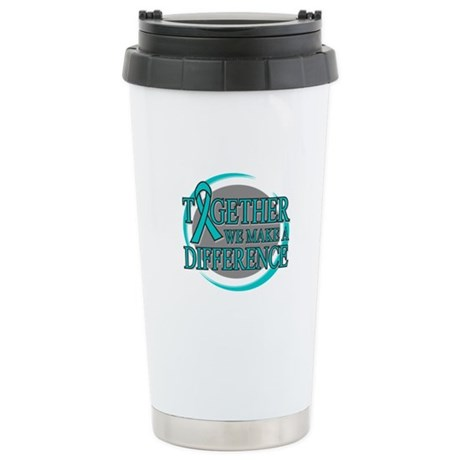 Ovarian Cancer Support Ceramic Travel Mug