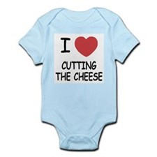 I heart cutting the cheese Infant Bodysuit