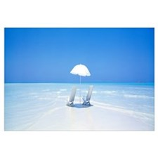 Beach Parasol and Chairs Maldives