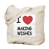 I heart making wishes Tote Bag