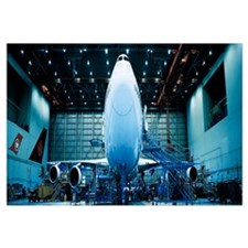 Hangar w\ plane Montreal Quebec Canada