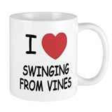 I heart swinging from vines Mug