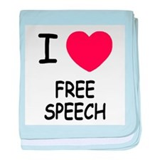 I heart free speech baby blanket