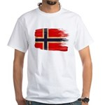 Norway Flag White T-Shirt