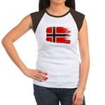 Norway Flag Women's Cap Sleeve T-Shirt
