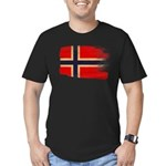 Norway Flag Men's Fitted T-Shirt (dark)