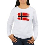 Norway Flag Women's Long Sleeve T-Shirt