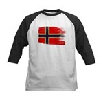 Norway Flag Kids Baseball Jersey