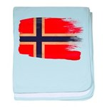Norway Flag baby blanket