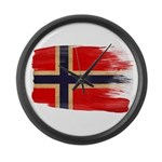 Norway Flag Large Wall Clock