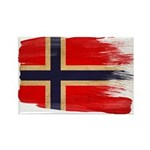 Norway Flag Rectangle Magnet (100 pack)