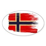 Norway Flag Sticker (Oval 50 pk)