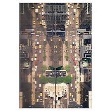 Aerial view of traffic on roads, Manhattan, New Yo