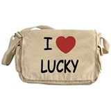 I heart lucky Messenger Bag