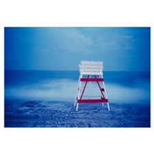 Lifeguard chair on the beach, Cape May, New Jersey