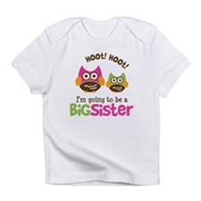 Retro Owl going to be Big Sis Infant T-Shirt