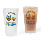 Retro Owl going to be a Big Brother Drinking Glass
