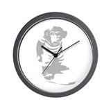 Surf Monkey Wall Clock