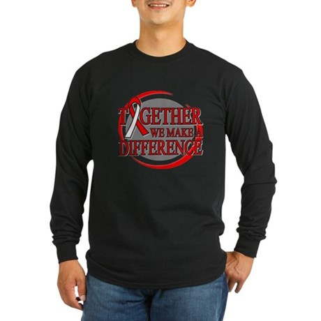 Oral Cancer Support Long Sleeve Dark T-Shirt
