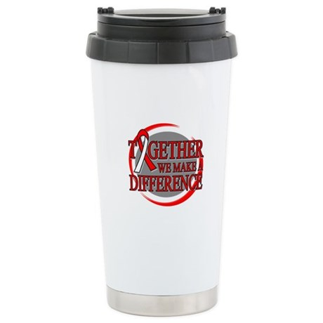 Oral Cancer Support Ceramic Travel Mug