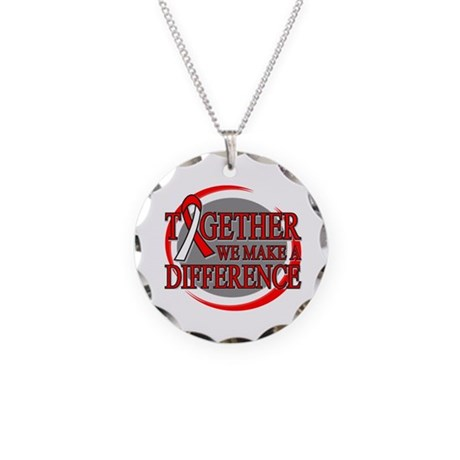 Oral Cancer Support Necklace Circle Charm