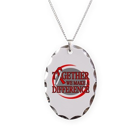 Oral Cancer Support Necklace Oval Charm