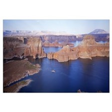 High angle view of a lake in a canyon, Lake Powell
