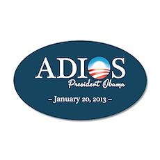 Adios Obama 22x14 Oval Wall Peel