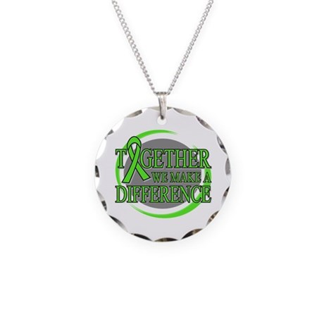 Non-Hodgkins Lymphoma Support Necklace Circle Char