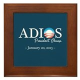Adios Obama Framed Tile