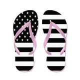 Black Stars and Stripes Flip Flops