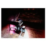 Grand piano on a concert hall stage, University Of