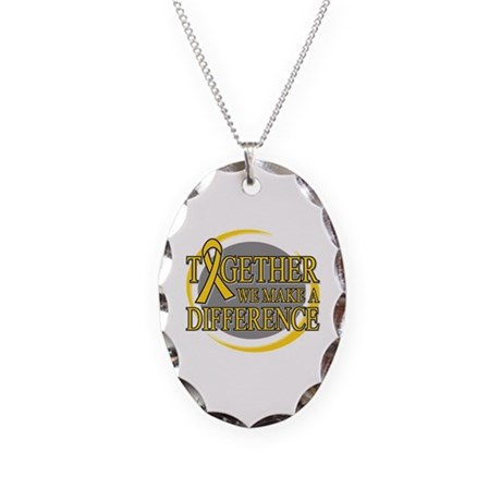 Neuroblastoma Support Necklace Oval Charm