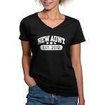 New Aunt 2012 Women's V-Neck Dark T-Shirt