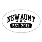 New Aunt 2012 Sticker (Oval)
